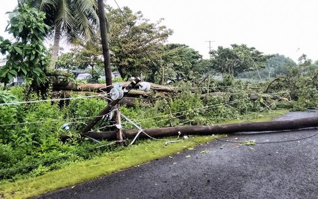 More powerlines down following tropical cyclone Amos.