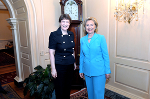 Helen Clark and Hillary Clinton