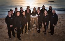 NZ athletes mark 100 days to the Rio Olympics in a sunrise beach ceremony in Auckland.