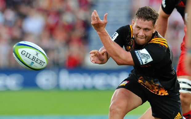 Chiefs halfback Tawera Kerr-Barlow is out for several weeks with a broken hand.
