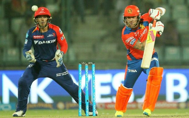 Brendon McCullum on his way to 60 off just 36 balls for the Gujarat Lions.