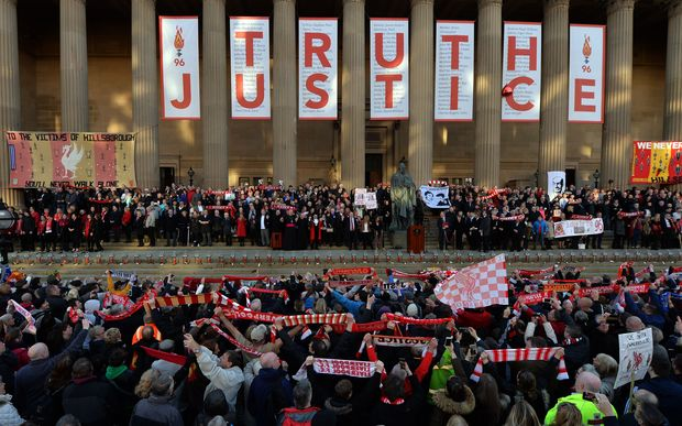 Thousands of people are attending a vigil in Liverpool in memory of those who died in the Hillsborough disaster.
