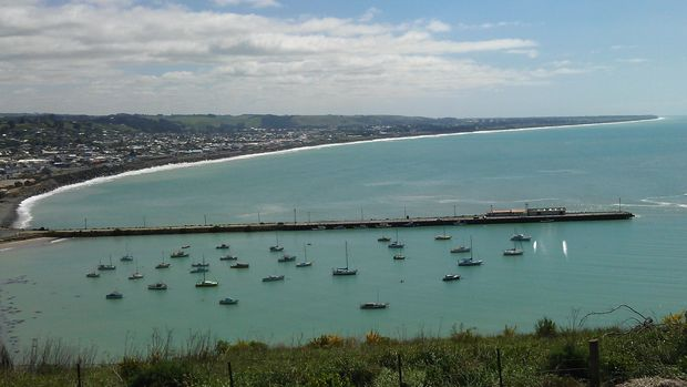 The view from Oamaru's Lookout Point, site of the proposed subdivision.