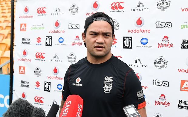 Issac Luke at today's Warriors media session where he admitted he shouldn't be selected for the Kiwis following his run of poor form.
