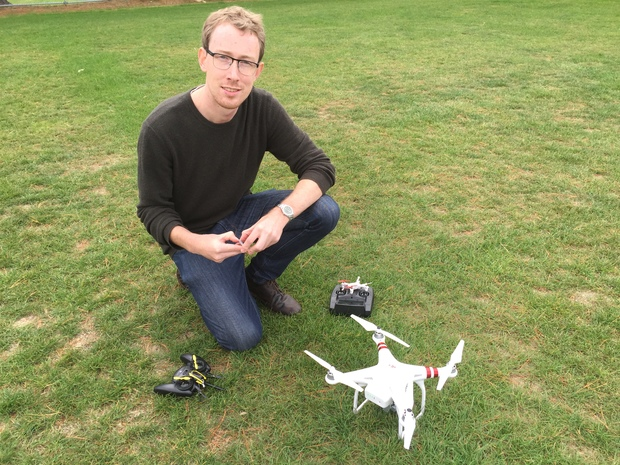 George Block from Consumer.org.nz tests drones