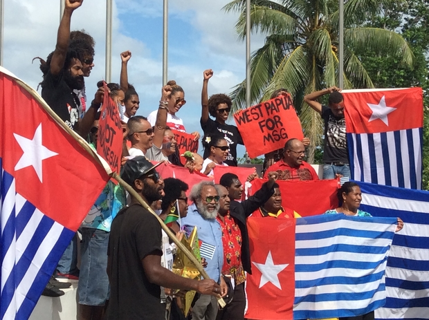 A public march in Vanuatu's capital delivered a petition to the Melanesian Spearhead Group secretariat calling for full membership for West Papua.