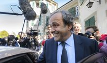 Suspended UEFA president Michel Platini as he leaves the Court of Arbitration for Sport.