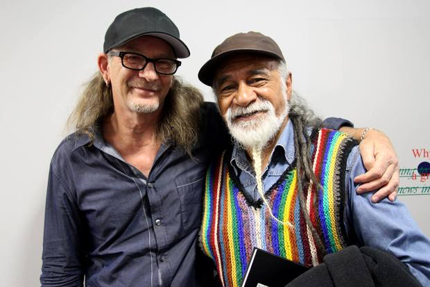 Tigilau Ness and RNZ Music's Trevor Reekie