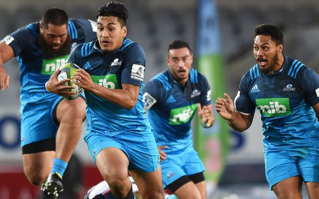 Rieko Ioane on the charge for the Blues.
