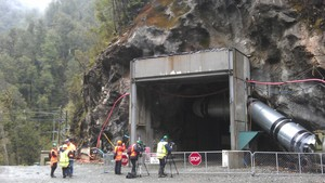 The entry to the Pike River mine after the explosion.