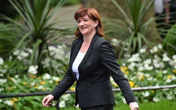 Britain's Secretary of State for Education Nicky Morgan