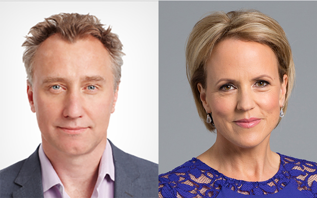 Mark Weldon and Hilary Barry