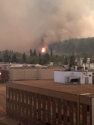 Fire burning in Fort McMurray, Canada