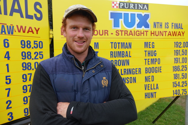 Straight huntaway winner Marcus Totman of Taihape