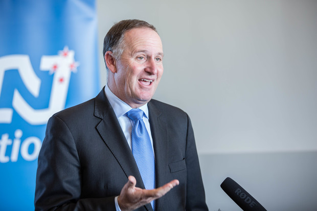 Prime Minister John Key speaks to media about the Panama Papers whistleblower on 7 May 2016.