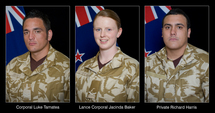 The three soldiers killed in Afghanistan in August.