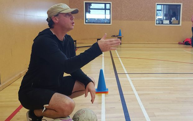 Wellington High School Highenas' coach, Michael Melville is one of thousands of parents helping school sport teams.