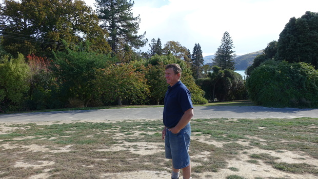 Alan Bradford of the Akaroa Health Hub Structure Group checks out the view at the site of the former Akaroa Hospital, and the future site of the new health facility.