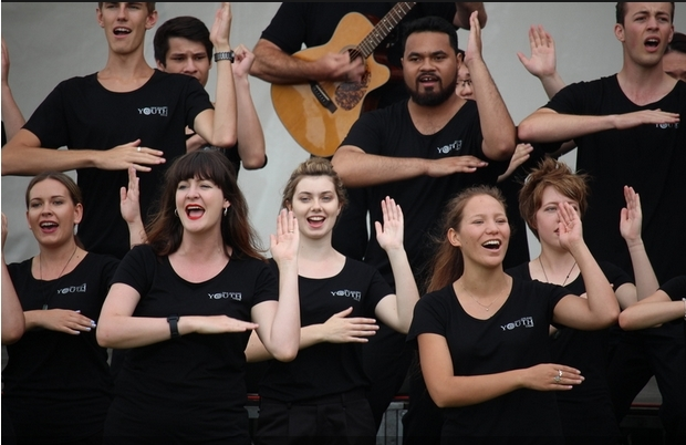 The New Zealand Youth Choir, Waitangi 2016.