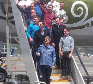 Hobbit cast and crew arrived in Wellington on Tuesday.