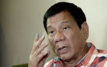 Philippines Presidential frontrunner and Davao City Mayor Rodrigo Duterte.