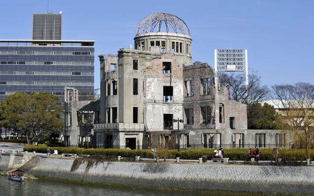The Atomic Bomb Dome at the Peace Memoral Park in Hiroshima.