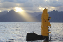 Azura at Wave Energy Test Site (WETS) near Kaneohe Bay, Oahu, Hawai'i.