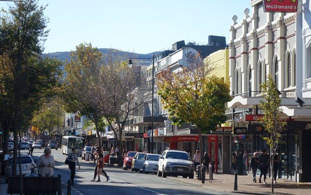 George Street, the main street of Dunedin.