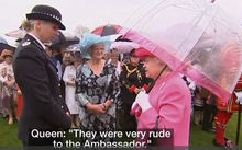 "The Queen has been caught on camera saying Chinese officials were ""very rude"" during a state visit to Britain last year by President Xi Jinping."
