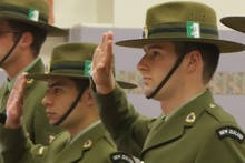 Lance Corporal Joshua Mapson, left, and Private Barclay Bishop.