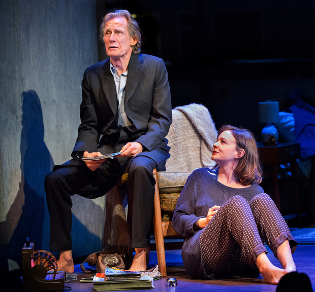 Bill Nighy and Carey Mulligan in the revival of David Hare's 1995 play Skylight