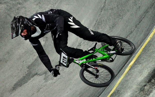 New Zealand's leading men's BMX rider Trent Jones