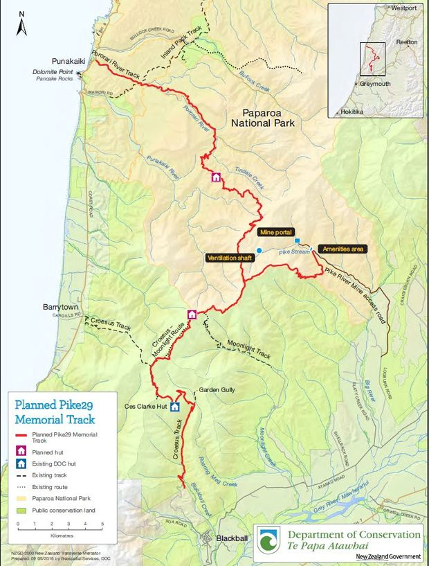 The route of the Pike29 Memorial Track