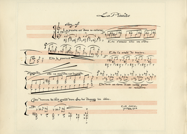 Score for La Pieuvre by Satie