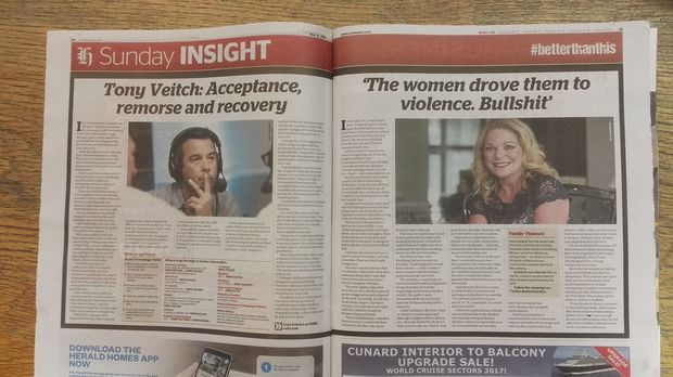How the controversial Tony Veitch article appeared in the herald on Sunday last weekend.