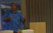 David Vaeafe, the executive director of American Samoa's Visitors' Bureau. American Samoa tourism