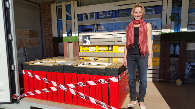 Archaeologist Katherine Watson curated the exhibition of items found in central Christchurch post earthquakes.