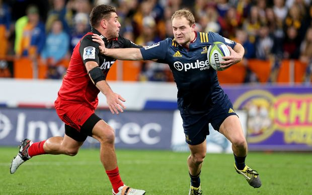 The Highlanders Matt Faddes in action against the Crusaders.