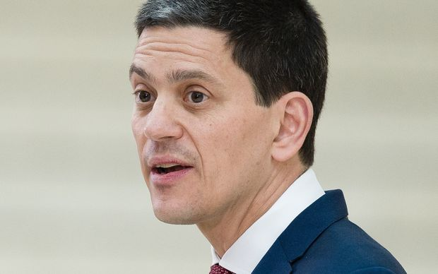 David Miliband, who is also the brother of former British Labour Party, Ed Miliband.