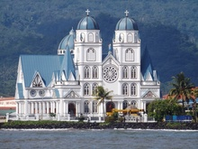 Catholic Cathedral in Apia in Samoa. church, christian
