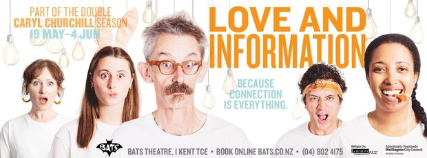 Love and Information part of the Double Caryl Churchill Season at BATS