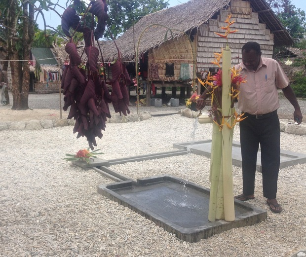 Santa Cruz island – Temotu Province -Handing over ceremony of the  new water supply system to the community by the Ministry of Environment and the Temotu Provincial Government – Community Resilience to Climate and Disaster Risks in Solomon Islands.