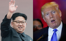 Kim Jong-un, left, and Donald Trump