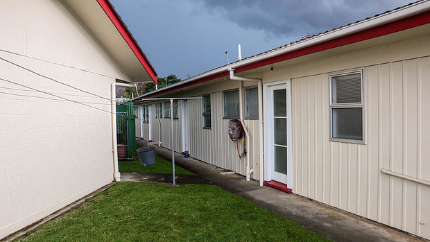 Exterior of the motel that Nicole is paying $190 per night for emergency housing with WINZ