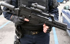 Assault rifles are military-style automatic weapons.