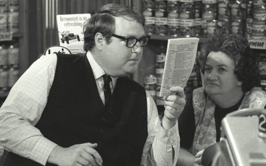 Ian Watkin with Pat Evison in the 1970s TV drama Pukemanu.