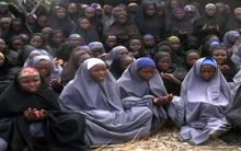 A screengrab taken from a Boko Haram video showing girls believed to be the schoolgirls abducted in Chibok.