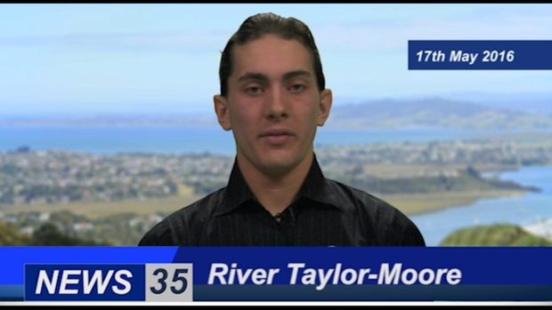 screenshot of the daily bilingual bulletin on Whangarei's  Channel North