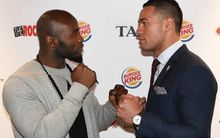Joseph Parker (right) and Carlos Takam