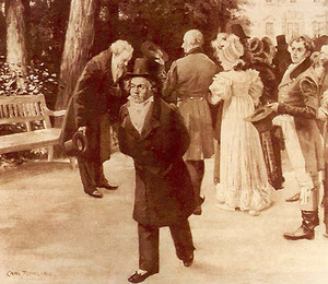 The Incident at Teplitz; Beethoven and Goethe meeting the Imperial family, July 1812